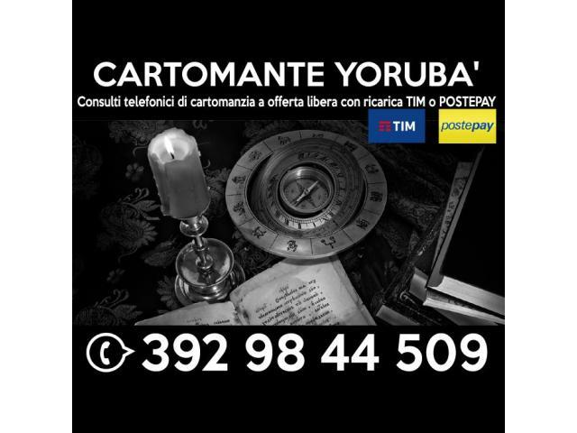 Consulto di Cartomanzia con offerta libera (ricarica telefonica TIM) - Cartomante Yoruba'